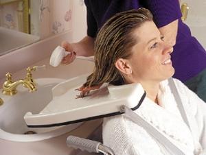 bandeja para enjuagar cabello