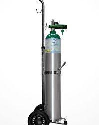 Tanque de oxígeno con carrito ligero