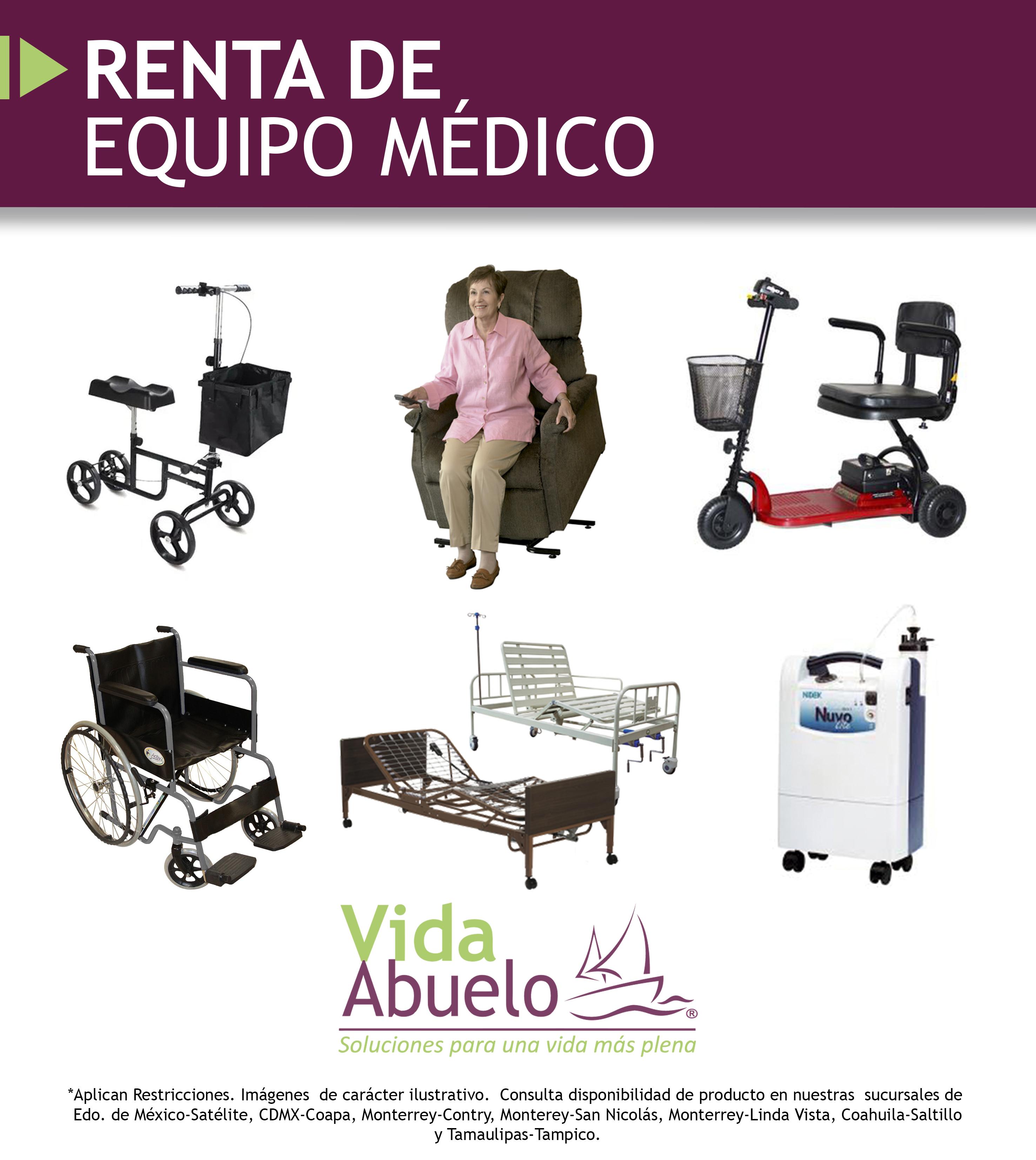 Renta de camas de hospita, renta de sillas de ruedas, renta de concentrador de oxígeno, renta de sillones reclinables eléctricos, renta de camas para pacientes, alquiler de equipo médico